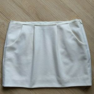 J. Crew Felted Wool Mini Skirt Pockets Size 10